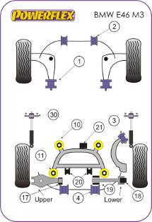 e46 m3  suspension diagram