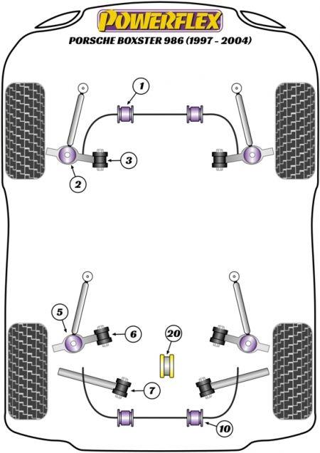 Porsche Boxster 986 (1997 to 2004) Replacement Suspension