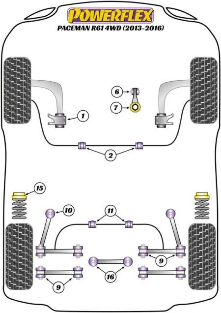 MINI PACEMAN R61 4WD (2013+) Replacement Suspension Bushings