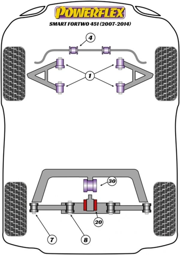 Smart Car Suspension Diagram