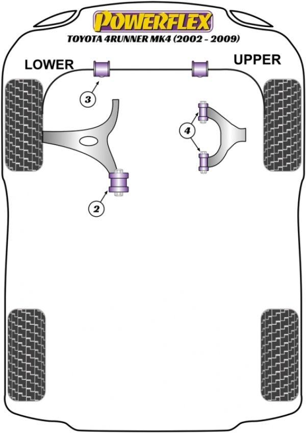 Toyota 4Runner (2002-2009) Replacement Suspension Bushings